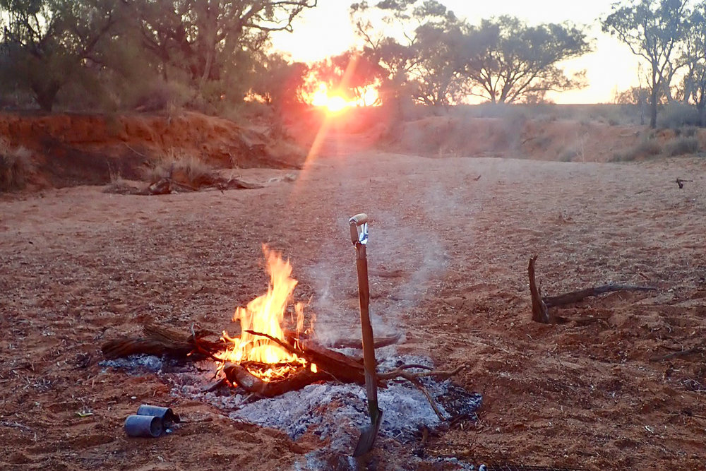 Burning your camping rubbish