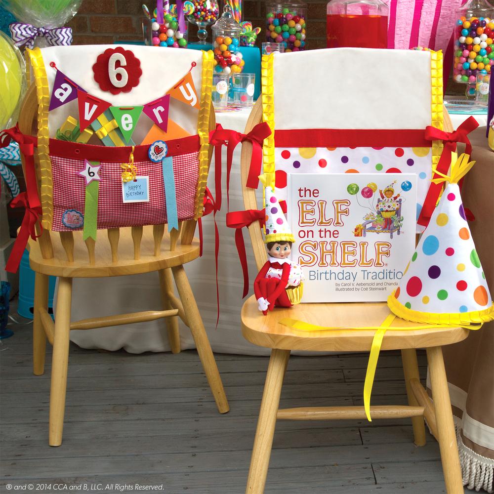 La más hermosa decoración de la silla del cumpleañero