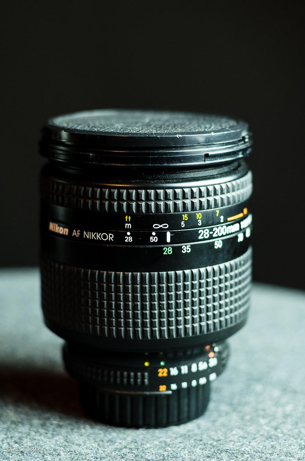 My trusty Nikon AF-D Nikkor 28-200mm lens