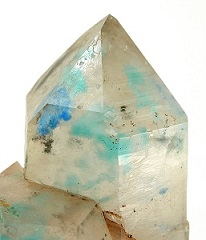 Rare Ajoite-Papagoite-Quartz crystal