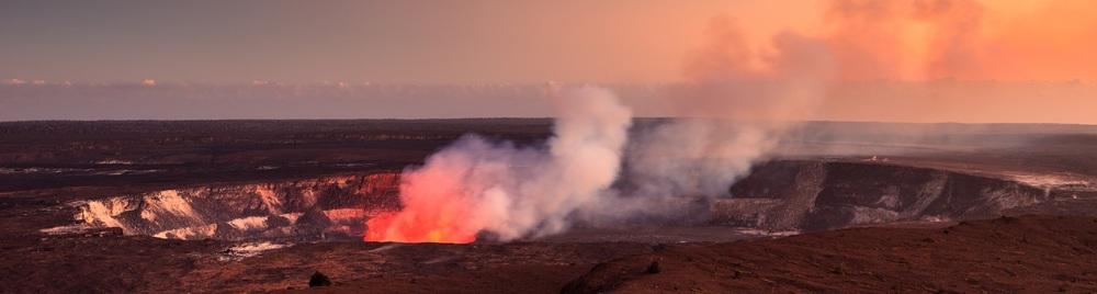 Volcano Kilauea Crater