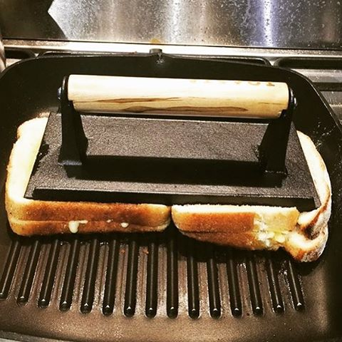 Here's a cheesy snap of @peterjohnmars making TOASTAs at home with his very own TOASTA press! Now available online at www.toastaandco.com.au/shop or in store at @toastaandco 💕💕💕