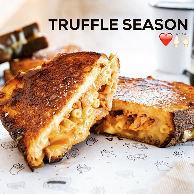Yup. TRUFFLE TOASTAs is a thing this weekend!  Find us at the @trufflemelb festival at Vic Market Saturday and Sunday 10am-4pm, dishing up truffle cheese toasties, truffle mac and cheese toasties and truffle croque monsieurs.... 😏😏😏