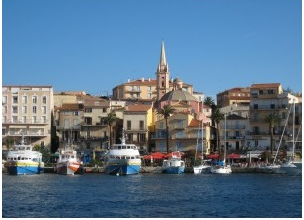 Port of Calvi from the sea