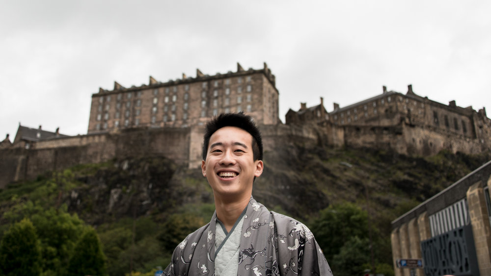 Edinburgh Castle - Li, studied in Edinburgh for his architecture degree. He loved living in the city and loved the historic buildings of the capital. He wanted images to take home to remember his stay in the city.