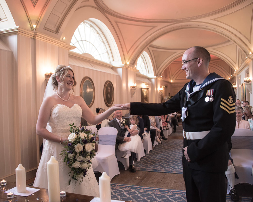Weddings At Balbirnie House - vows in the long gallery