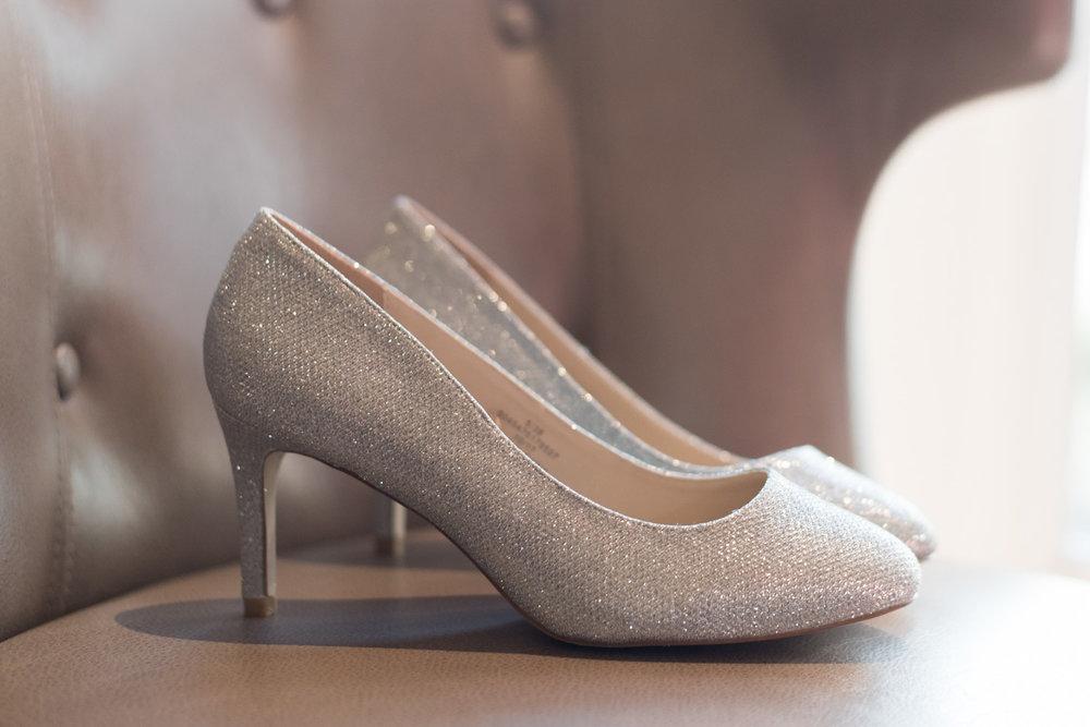 orocco pier wedding - brides shoes