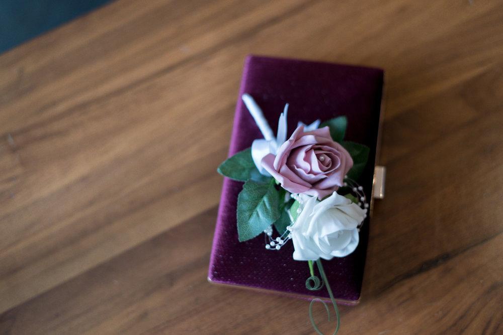 orocco pier wedding - cute bag