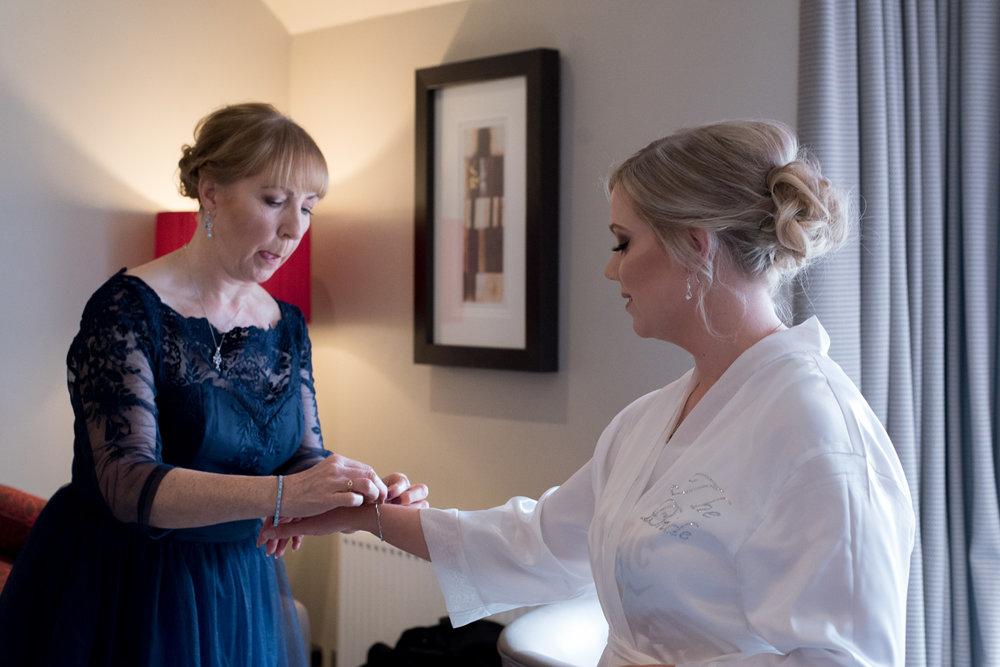 Orocco Pier Wedding - bride and mum