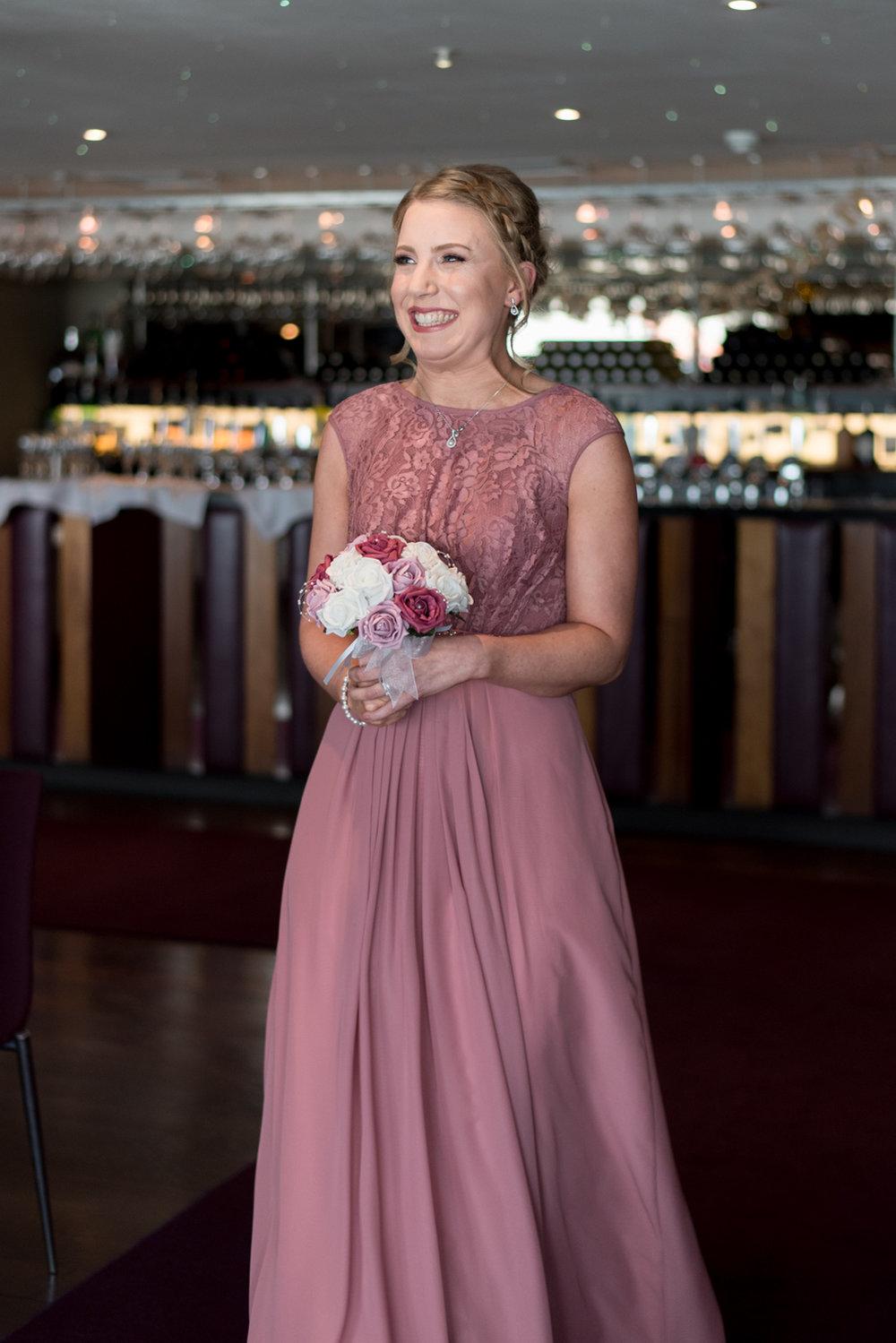 South Queensferry Orocco Pier Wedding - bridesmaid