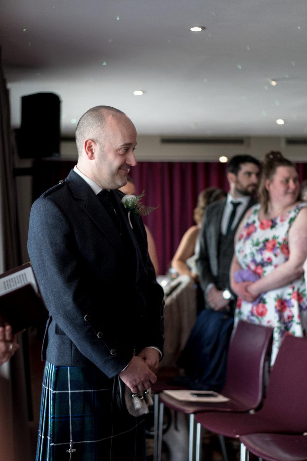 South Queensferry Orocco Pier Wedding - groom