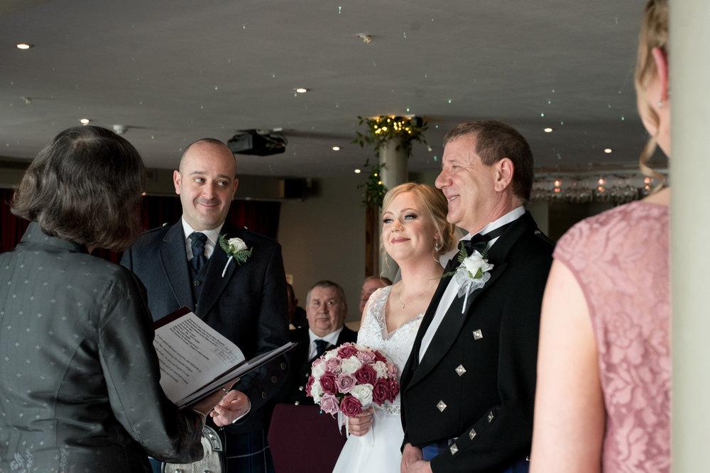 Orocco Pier Wedding, South Queensferry - ceremony