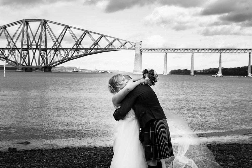 Cute couple shot at Orocco Pier Wedding