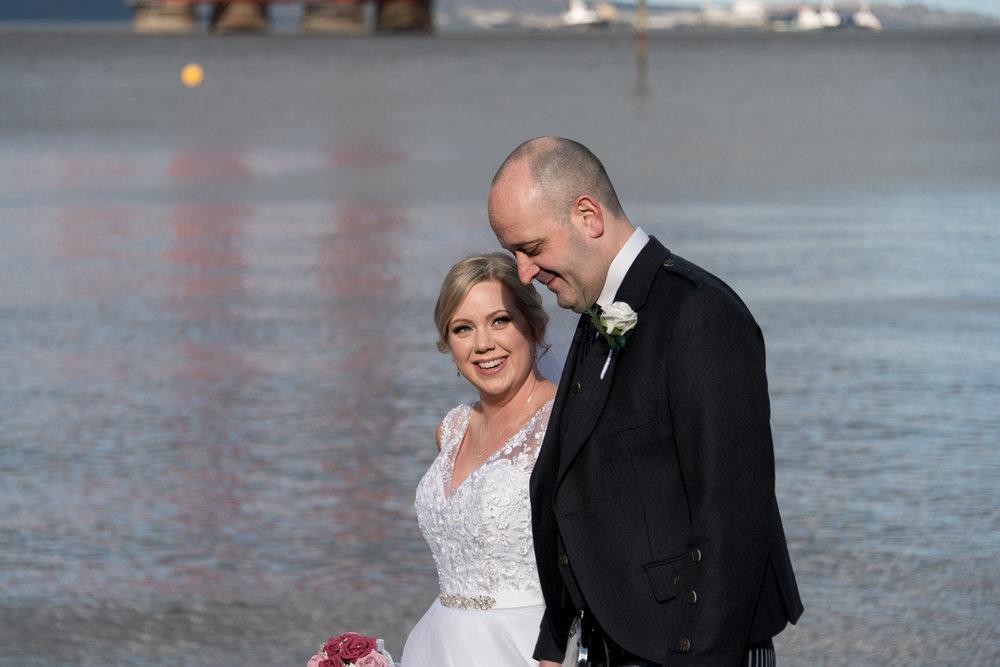 Orocco Pier Wedding - bride and groom