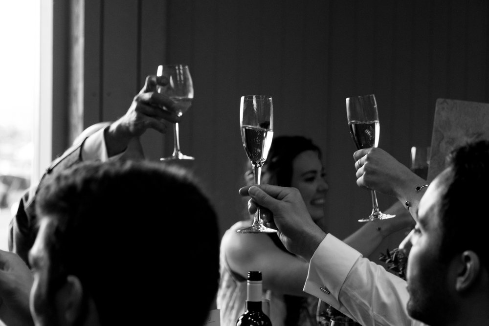 Guardswell Farm - Wedding speeches, toasting the bride and groom
