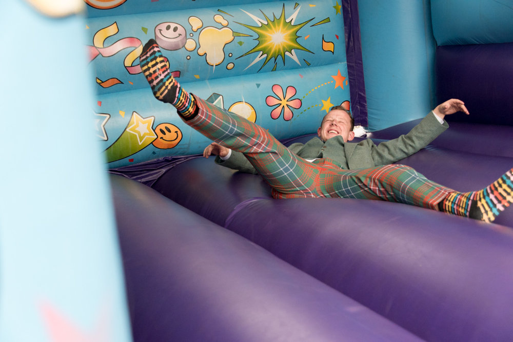 Guardswell Farm - wedding reception bouncy castle 02