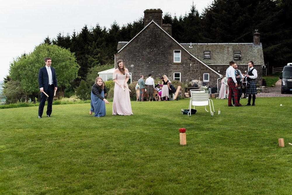 Guardswell Farm - wedding reception lawn games