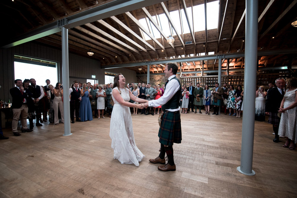 Guardswell Farm - first dance in the Cattle Court