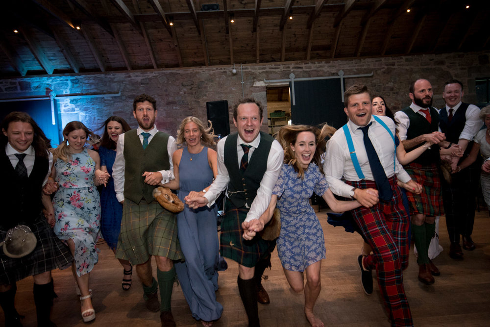 Guardswell Farm - ceilidh in the Cattle Court 05