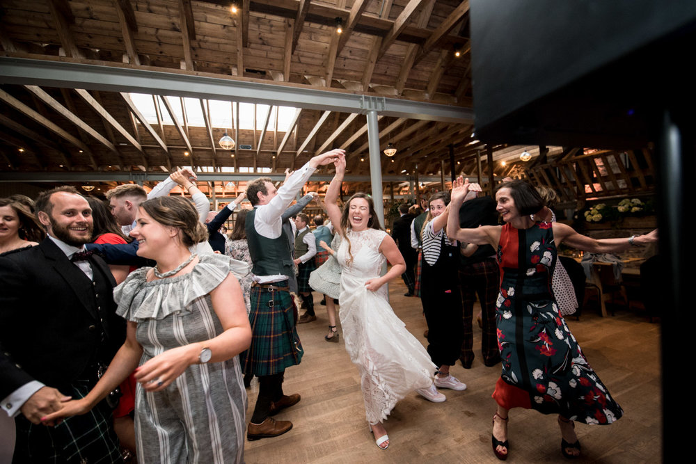 Guardswell Farm - ceilidh in the Cattle Court