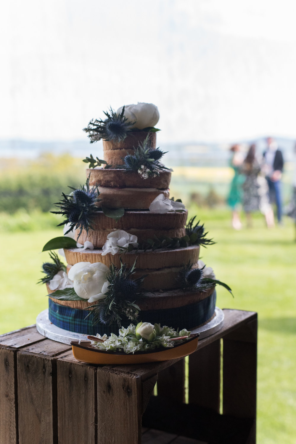 Guardswell Farm - canoe wedding cake