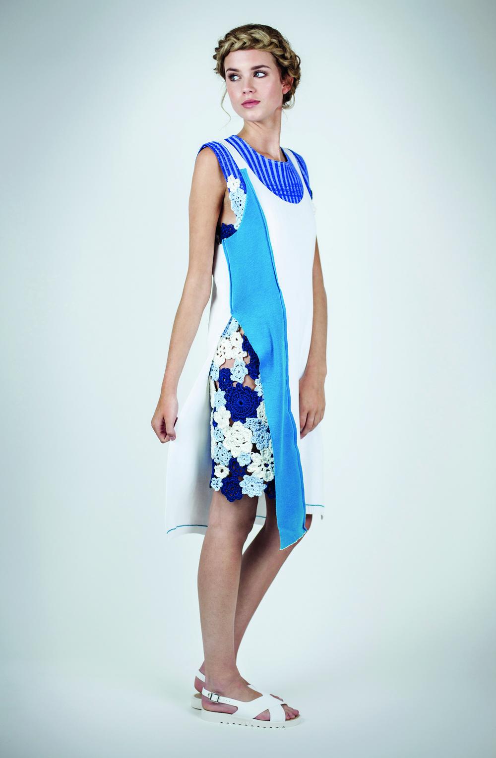 Floral dress knit