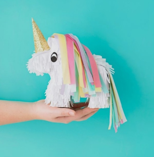 A cute unicorn piñata from pinterest