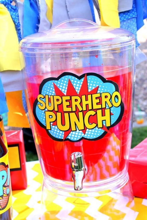 super hero punch