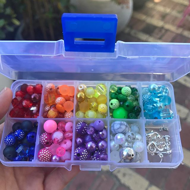 One of our DIY kits made up and ready to go. You receive everything you need to throw your own jewellery design party. #diy #jewellerydesign #kidsparties