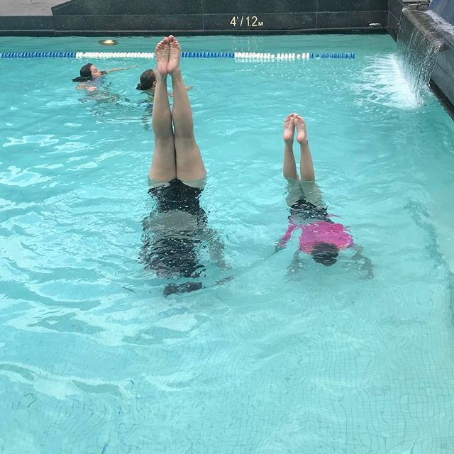 Aqua handstand practice in Montreal! #cheerfamily @eliteallstarcheer