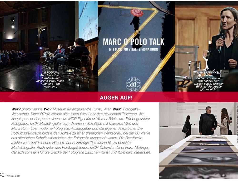 Textilzeitung // Marc O´Polo Eigentümer Werner Böck beim preview and talk der photo::vienna