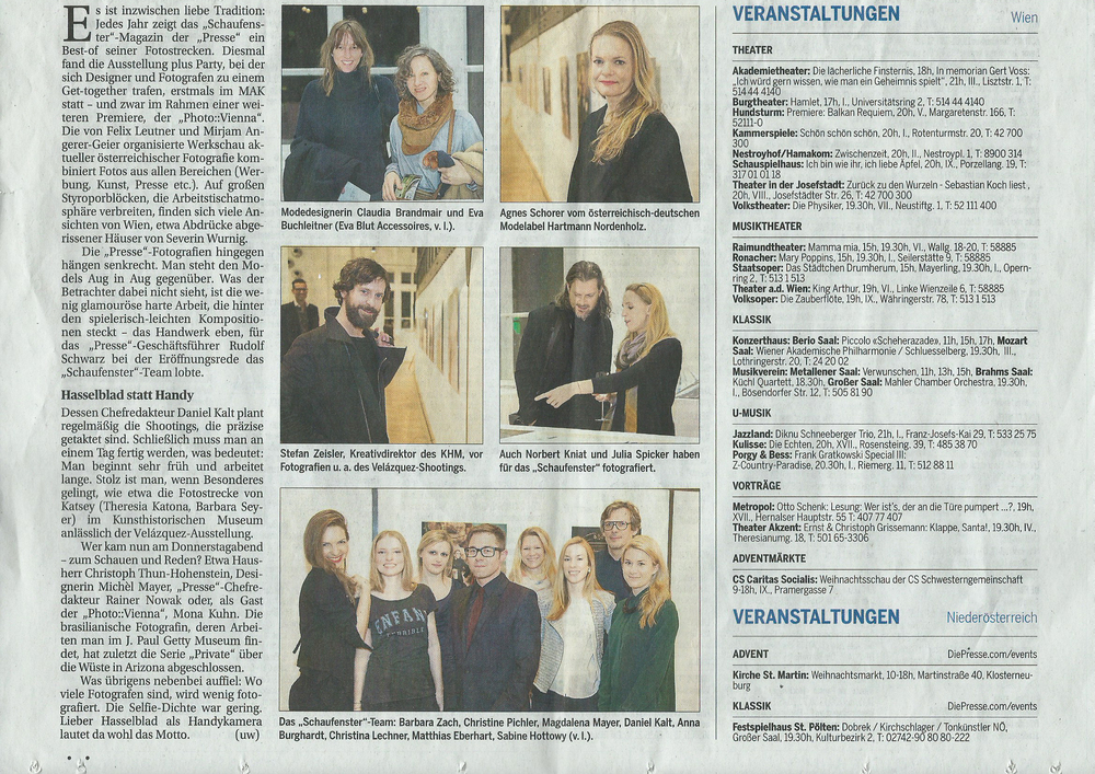 Die Presse // best of Schaufenster - Event im Rahmen der photo::vienna