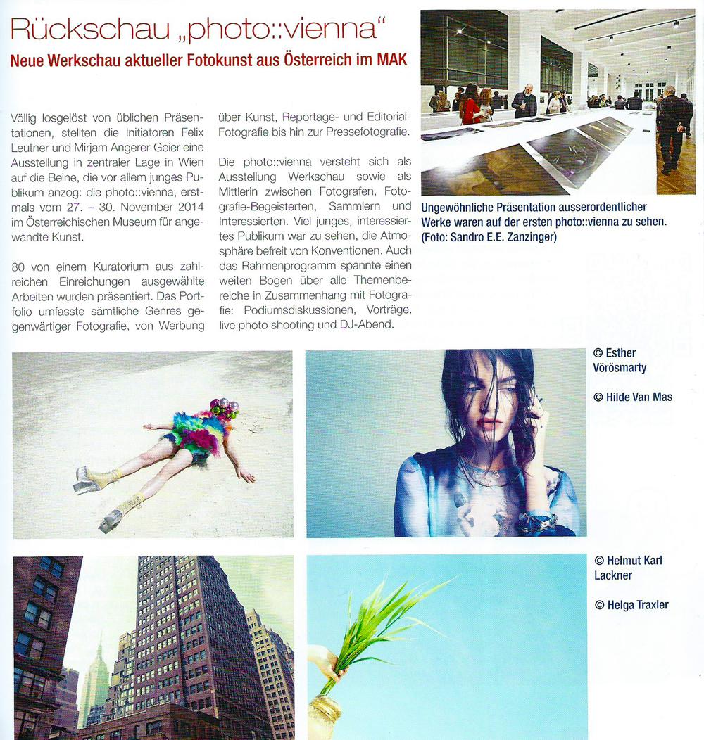 der photograph | Österreichisches Monatsjournal für angewandte Fotografie und audiovisuelle Medien