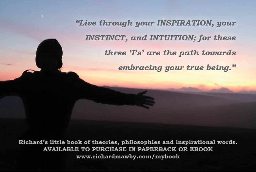 Richard's little book of theories, philosophies and inspirational words advert.