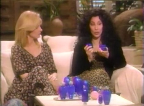 This is a screenshot from an infomercial Cher did back in the late 80s/90s I believe. I like this as an example because she did it, she owns that this happened in her career. She also owns how it affected her career for many years, how she could not get jobs. She took responsibility for her lack in judgement. Not everyone can do that! But that's why she is Cher and I am just well...me haha