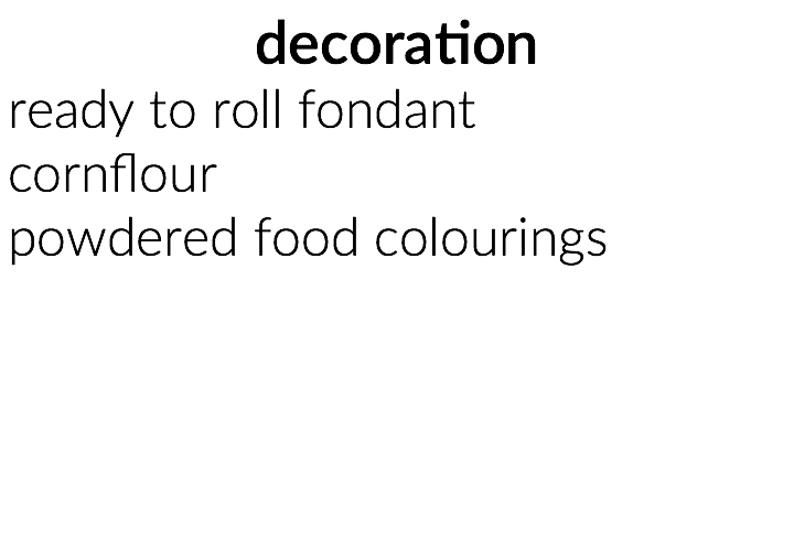 decoration ingredients