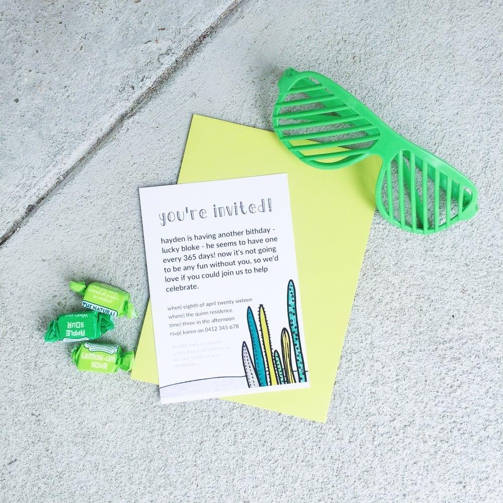 cactus invitations | mrtimothyjames