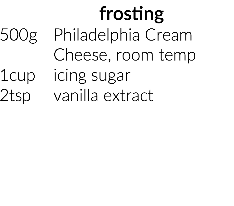 frosting ingredients