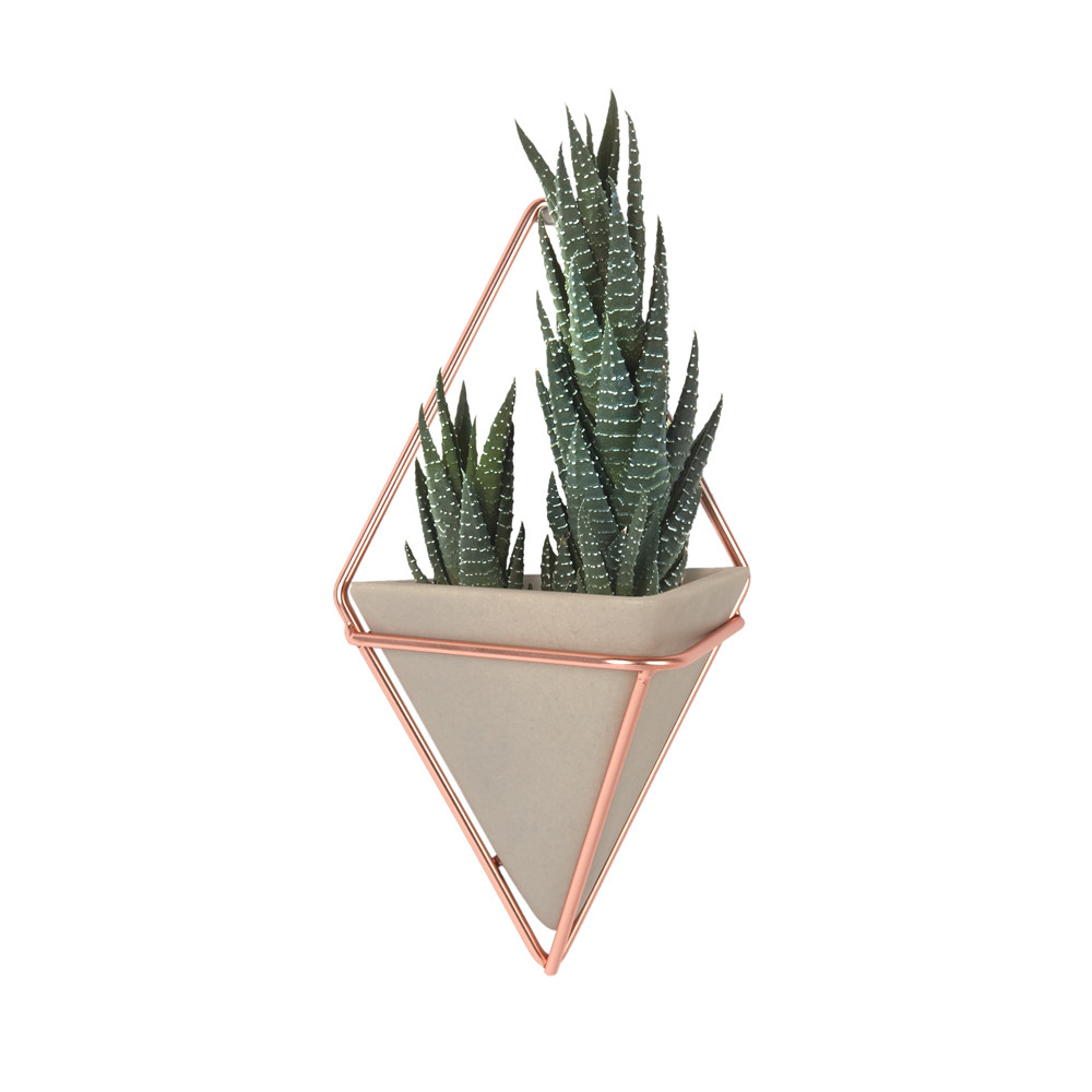 copper - umbra trigg wall planter (w:plant).jpg