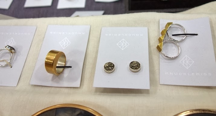Some of my favorite new pieces (L to R):Crushed Pyrite Ring, Tekton Ring, Crushed Pyrite Studs, Soft Spike Double Ring.