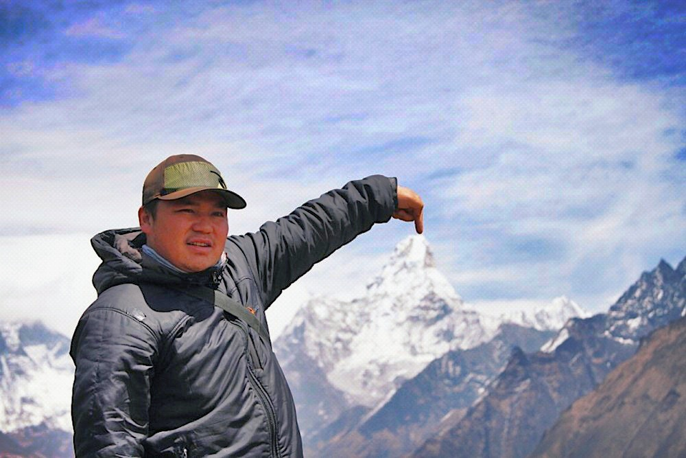 Sherpa Ash Gurung ✝,  18. April 2014, Mount Everest.