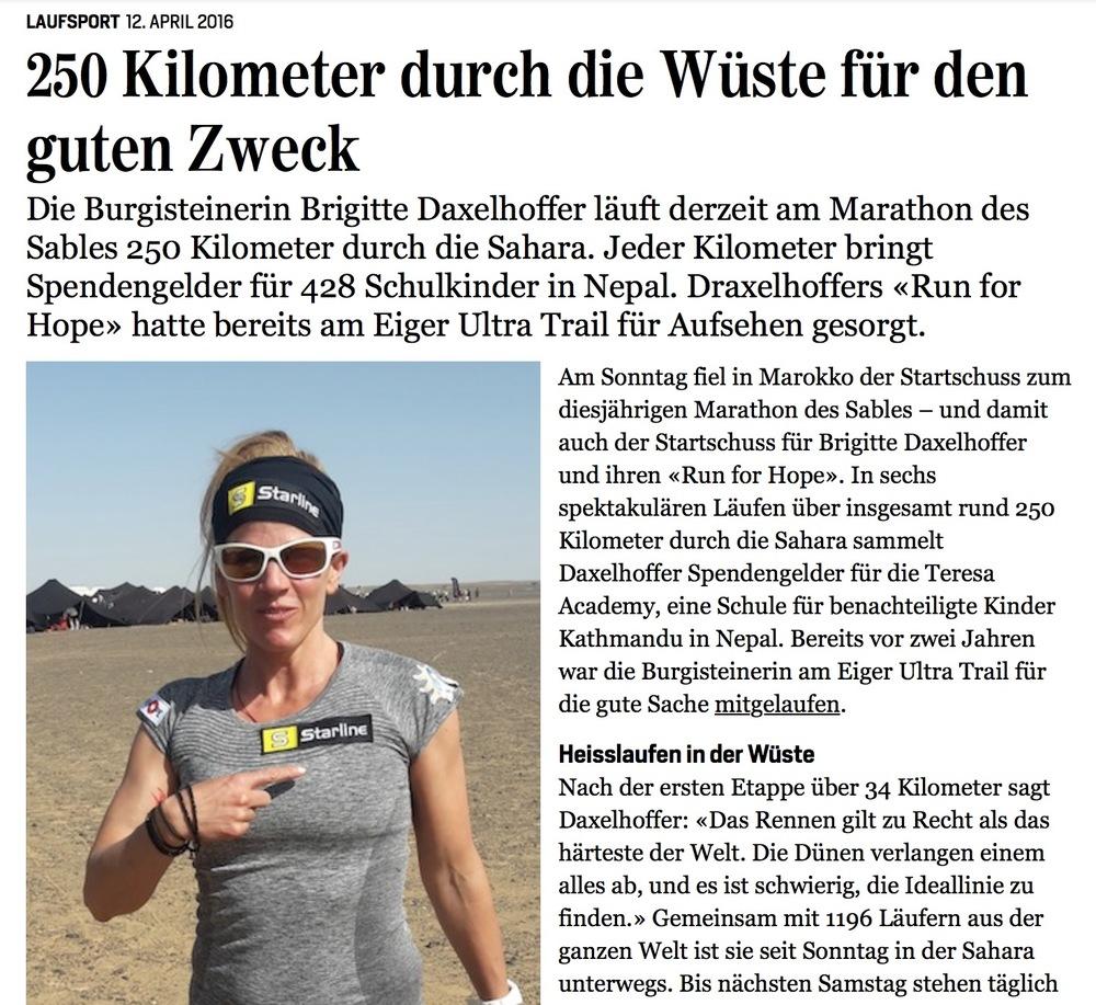 Junfrau Zeitung, 12. April 2016
