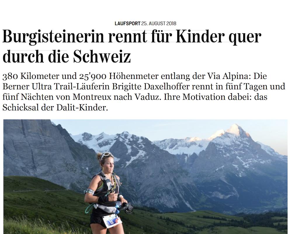 Jungfrau Zeitung, 25. August 2018
