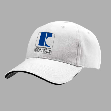 Limited Edition Hat: $20 (Plus $5 Shipping)  The distinctive design is inspired by the first Corvette to win at Le Mans, piloted by the legendary John Fitch and Bob Grossman in USA white & blue stripe international colors of the period.