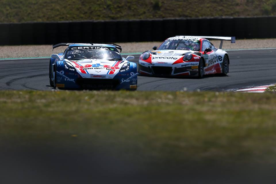 # 77 - 2017 ADAC-GT Jules overtakes # 99 Precote for 2nd.jpg