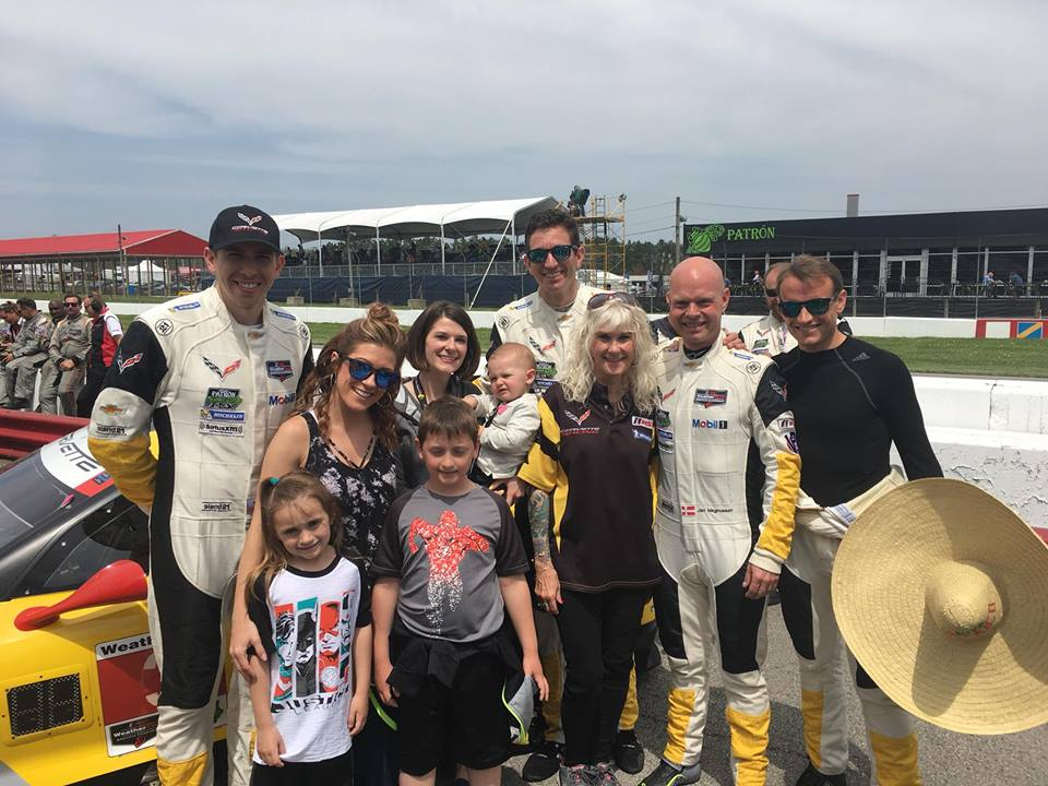# 3 - 2018 IMSA all 4 drivers with crew wives & kids at Mid-Ohio.jpg