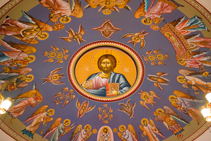 The ceiling at the church.