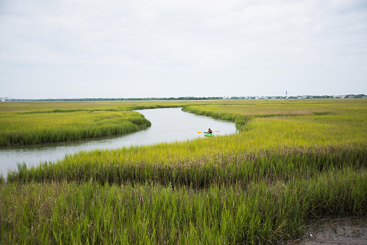 A good little lowcountry view: Marsh + Kayak + Sullivan's Island = Lowcountry still life.