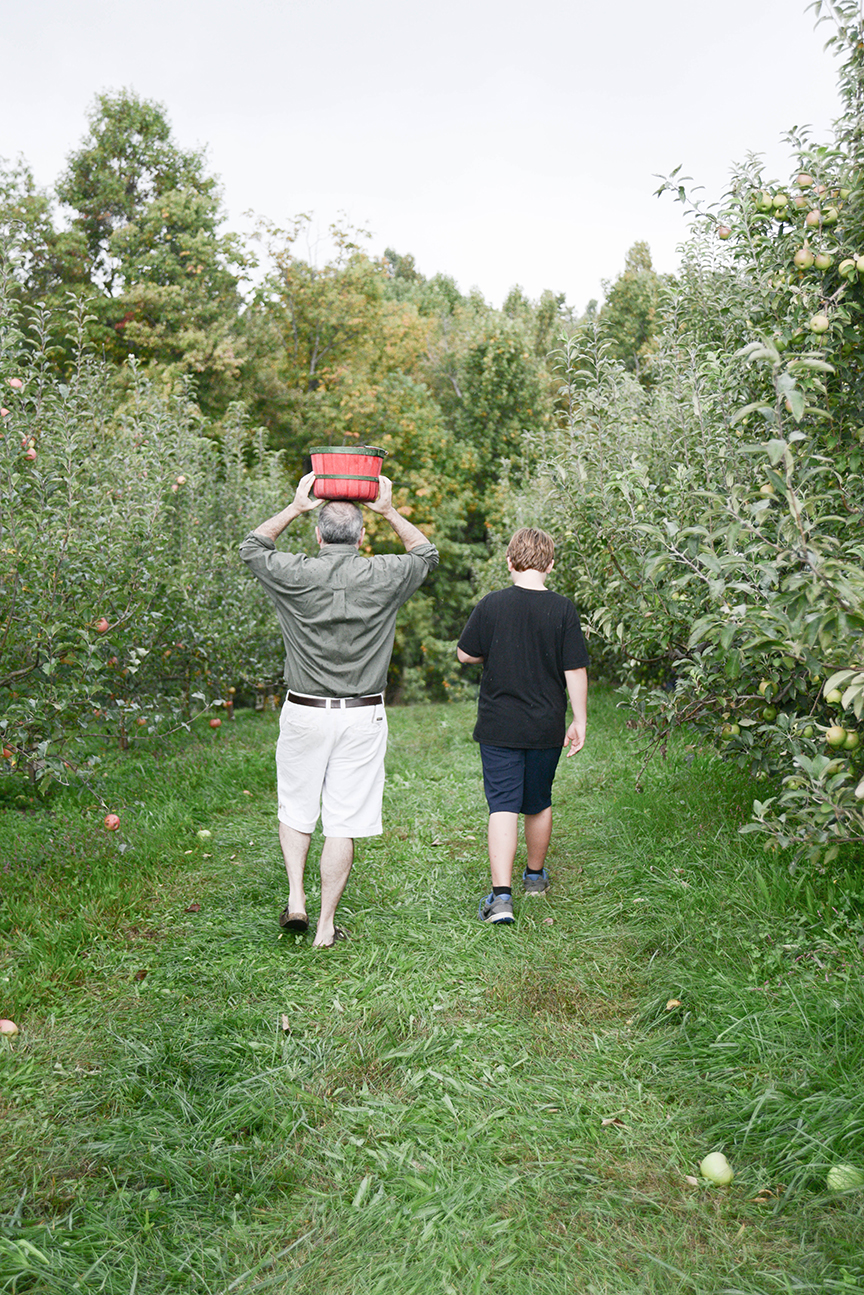 Apple picking is one of our new traditions. And this was right before we got soaked to the bone with rain.