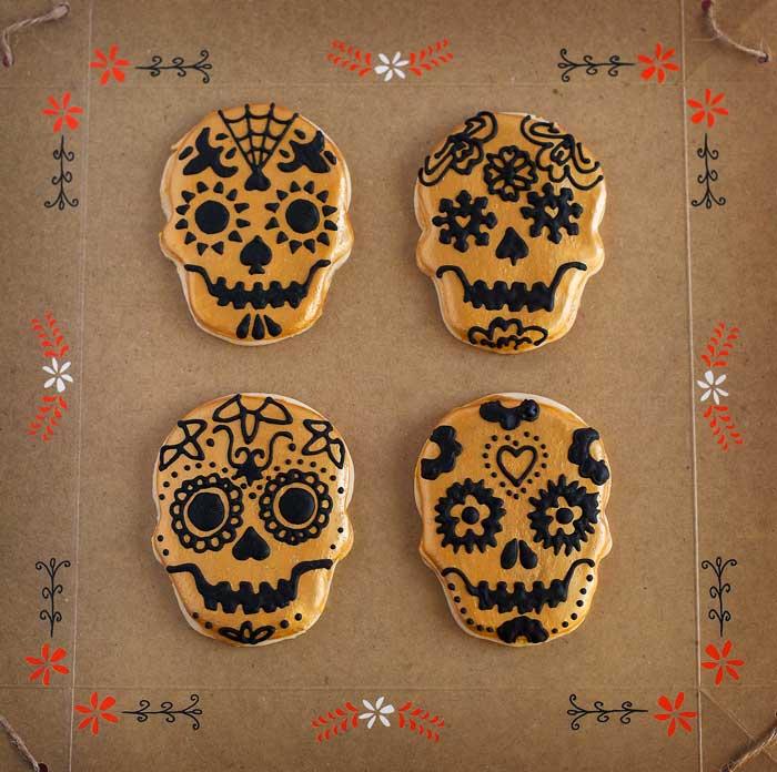 © Día de los Muertos Skull Cookies